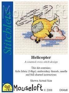 Mouseloft Helicopter Stitchlets cross stitch kit